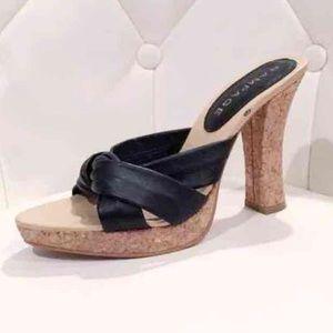Rampage leather platform heels 7.5